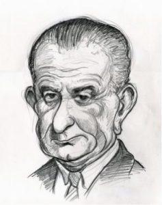 LBJ caricature