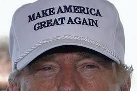 Donald Trump's famous hat and campaign slogan