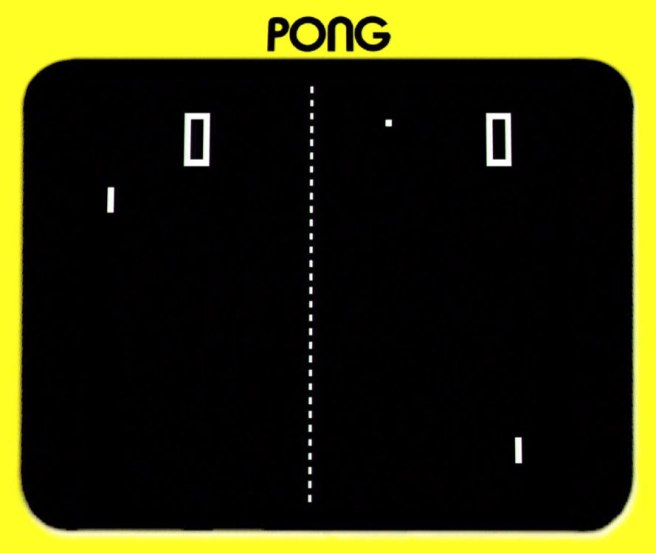 Pong one of the earliest video games